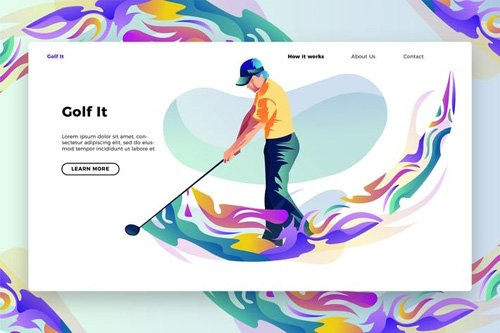 Golf It - Banner & Landing Page