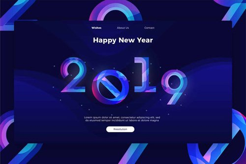 Happy New Year - banner & Landing Page