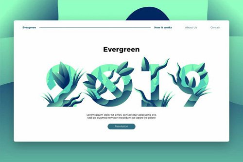 Evergreen 2019 - Banner & Landing Page