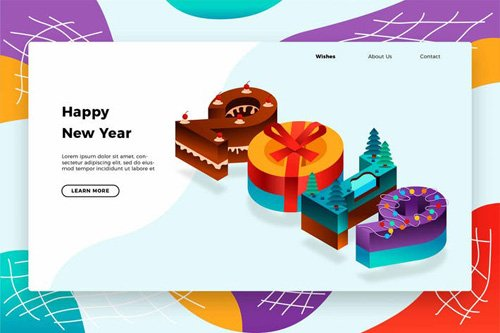 Cake New Years 2019 - Banner & Landing Page