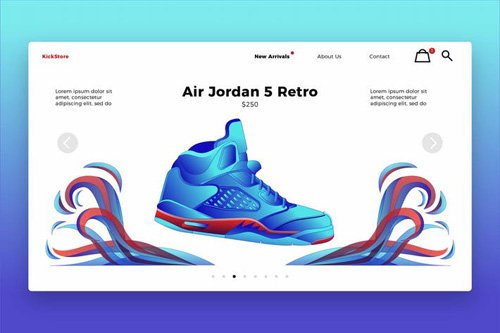 Fashion Shoes - Banner & Landing Page