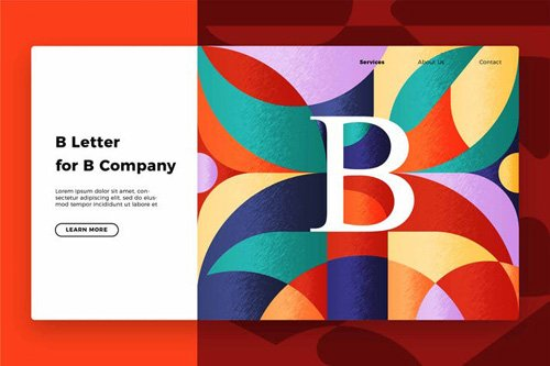 Letter B - Banner & Landing Page