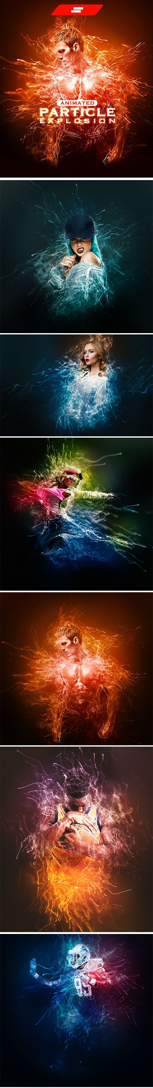GraphicRiver - Gif Animated Particle Explosion Photoshop Action