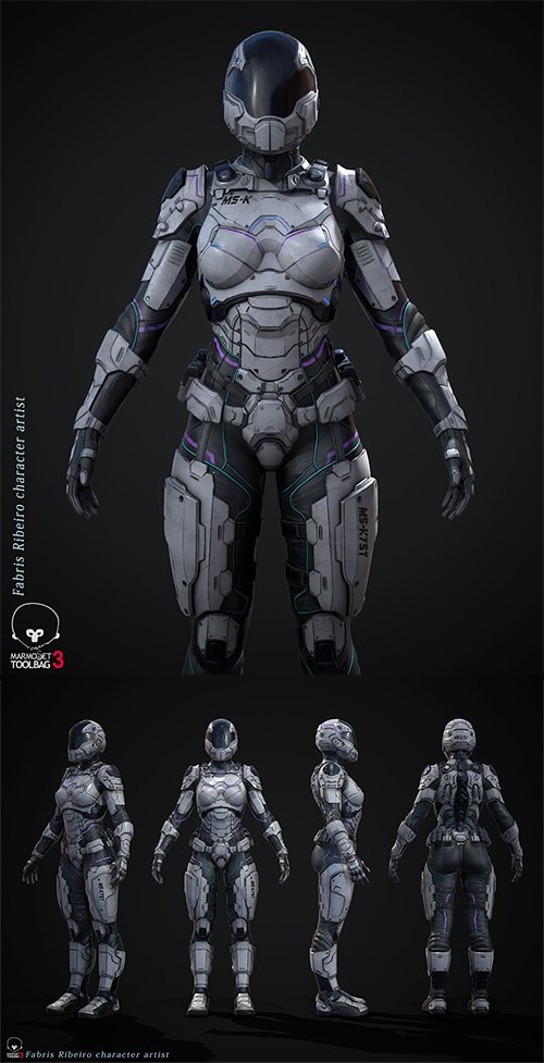 Female Sci-fi Soldier