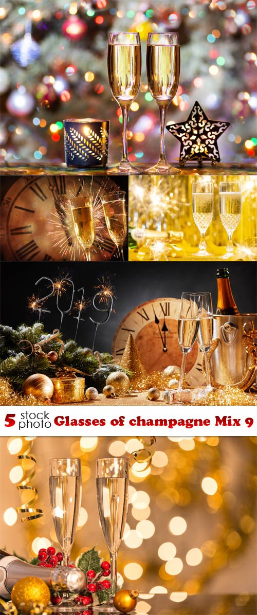 Photos - Glasses of champagne Mix 9