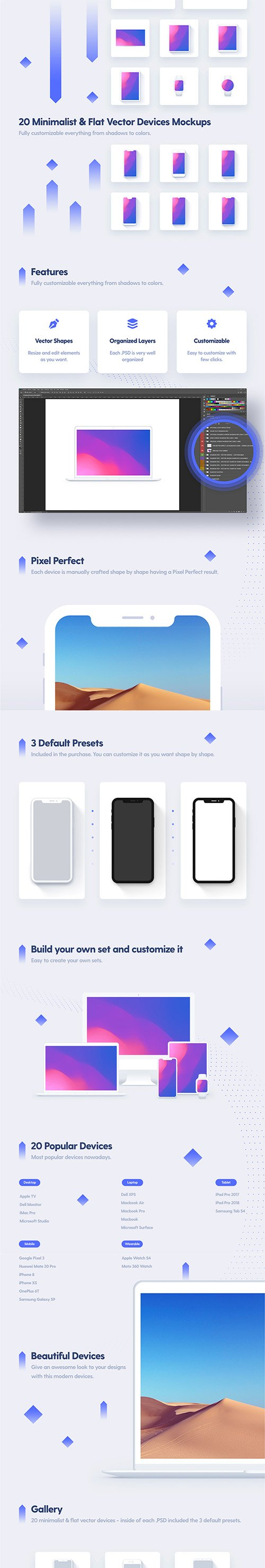 PSD Minimalist & Flat Devices