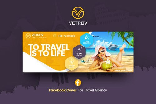 Vetrov - Travel Facebook Cover Template