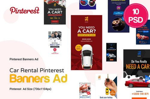 Car Rental Pinterest Ad Nitrogfx Download Unique Graphics For Creative Designers