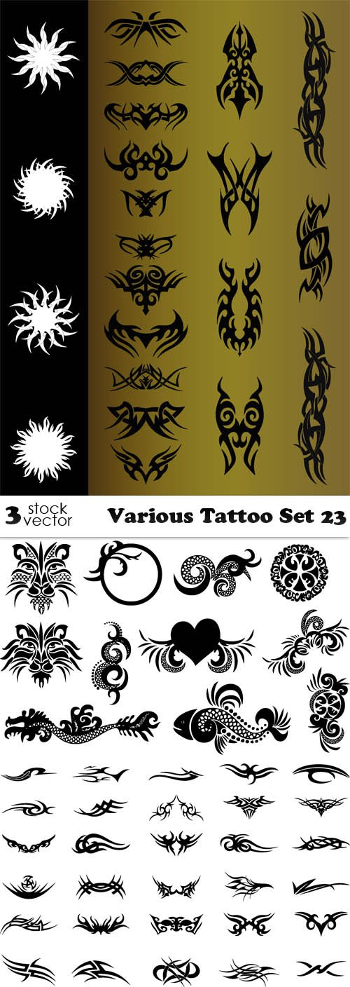 Vectors - Various Tattoo Set 23