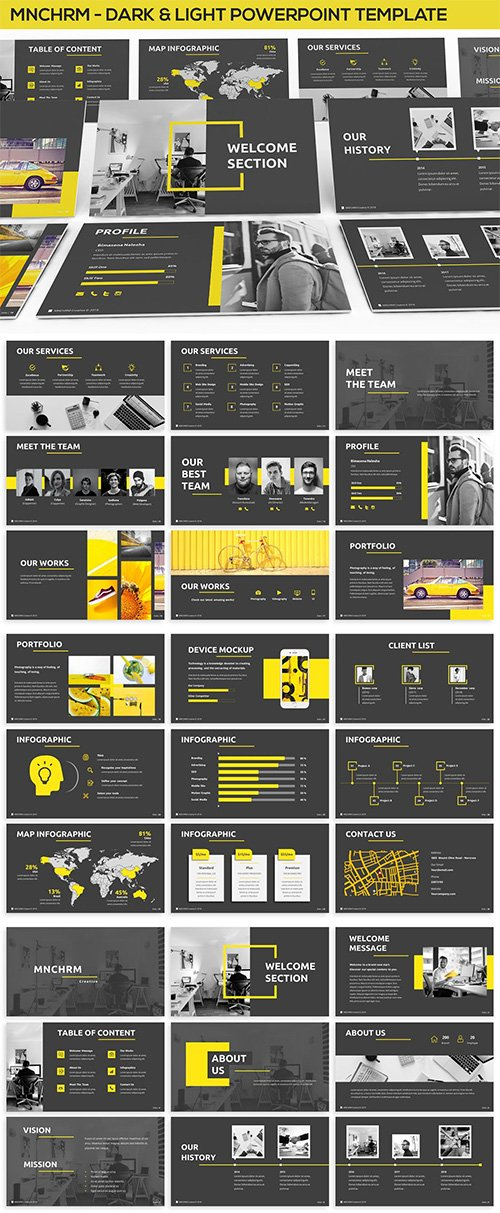 Mnchrm Dark Light Powerpoint Template Nitrogfx