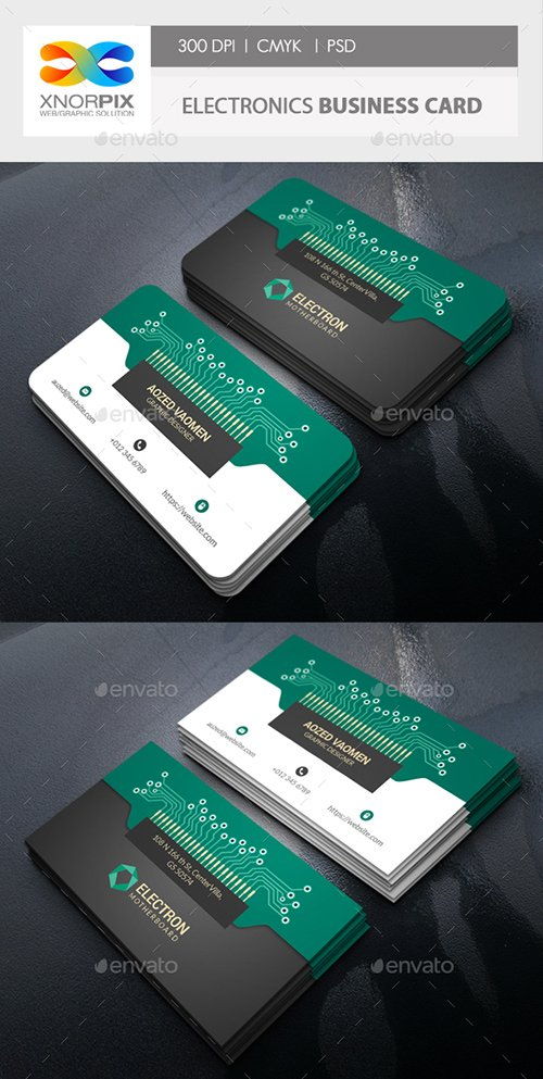 GraphicRiver - Electronics Business Card 22301720