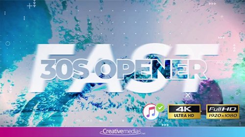 Fast 30S Opener - After Effects Template 098186994