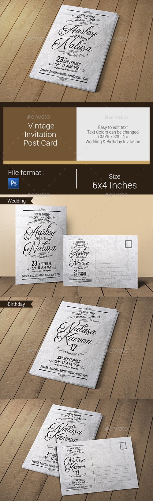 Graphicriver - Vintage Invitation & Post Card 10783764
