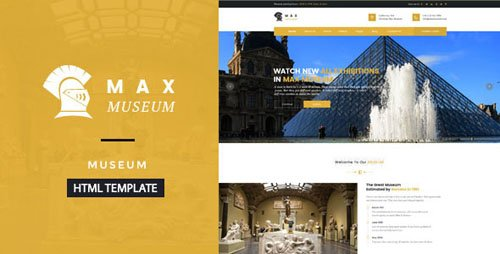 ThemeForest - Max Museum v1.0 - Historical & Artifacts Museum HTML Template - 18545667