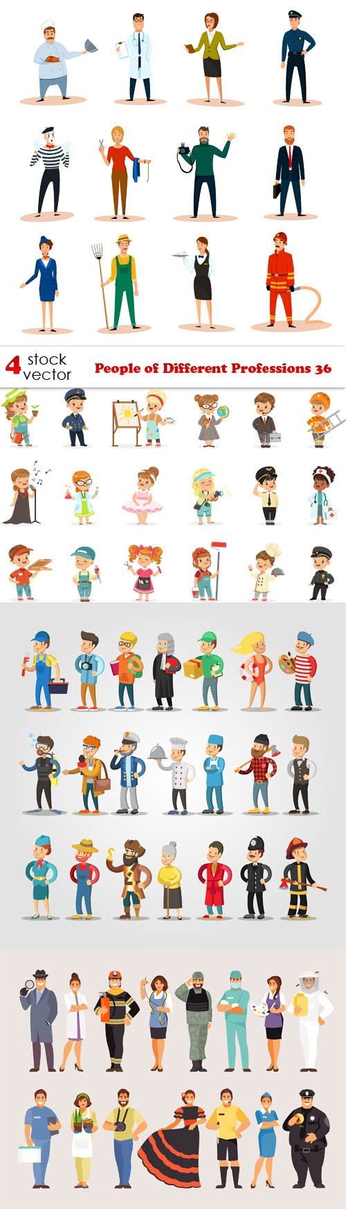 Vectors - People of Different Professions 36