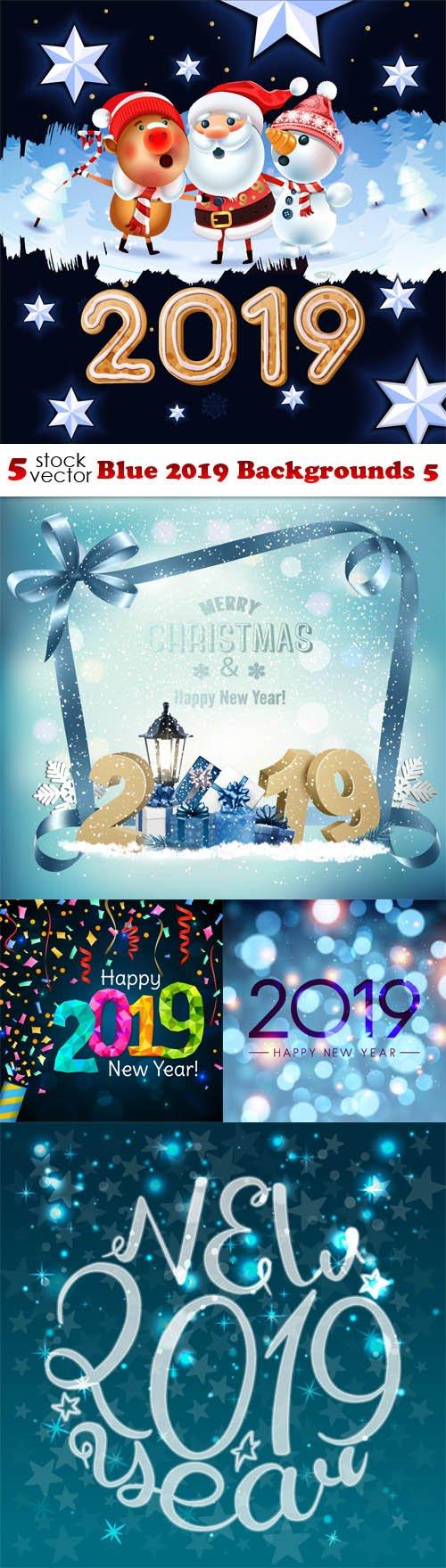 Vectors - Blue 2019 Backgrounds 5