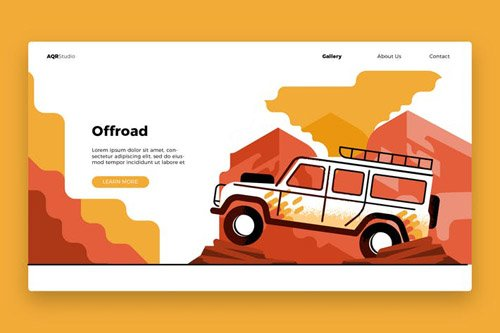 Offroad - Banner & Landing Page
