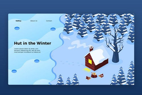 Winter Hut - Banner & Landing Page