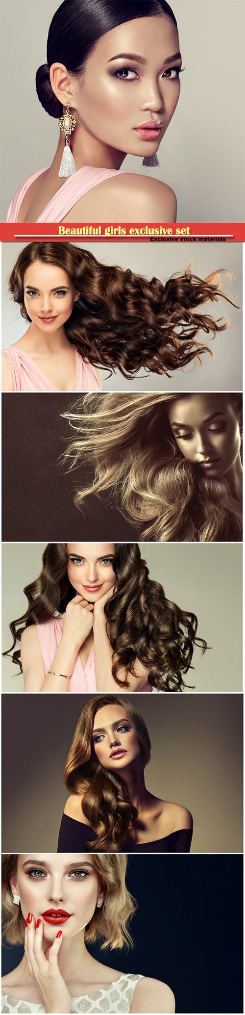 Fashion girls with makeup and beautiful hair