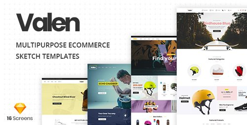 ThemeForest - Valen v1.0 - A Multi-Concept Ecommerce Sketch Template - 22468973