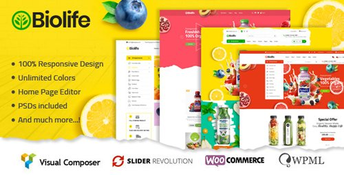 ThemeForest - Biolife v1.0.5 - Organic Food WordPress Theme - 22239723