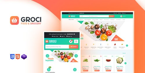 ThemeForest - Groci v1.3 - Organic Food and Grocery Market WordPress Theme - 22502070