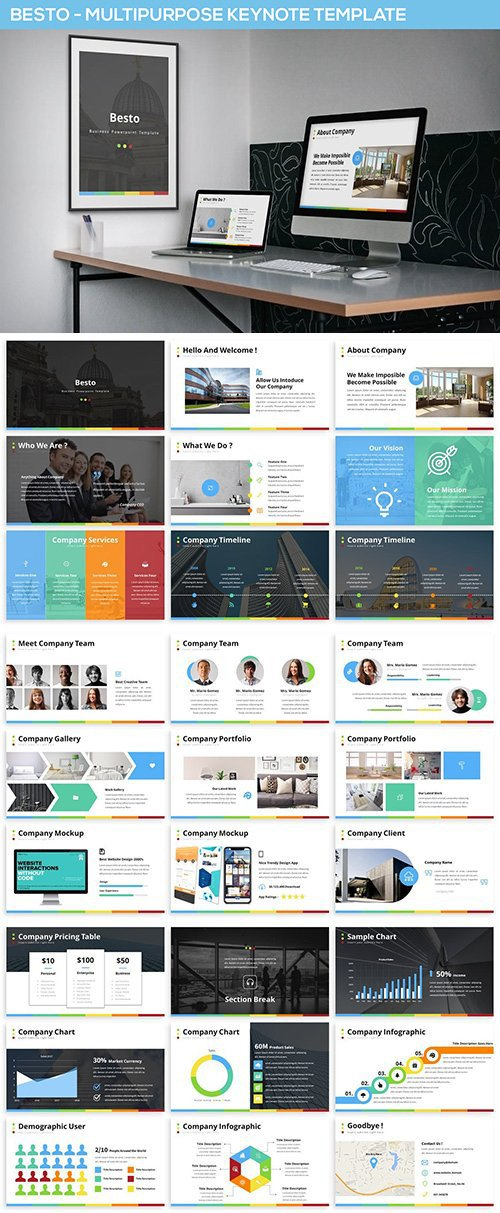 Besto - Multipurpose Keynote Template
