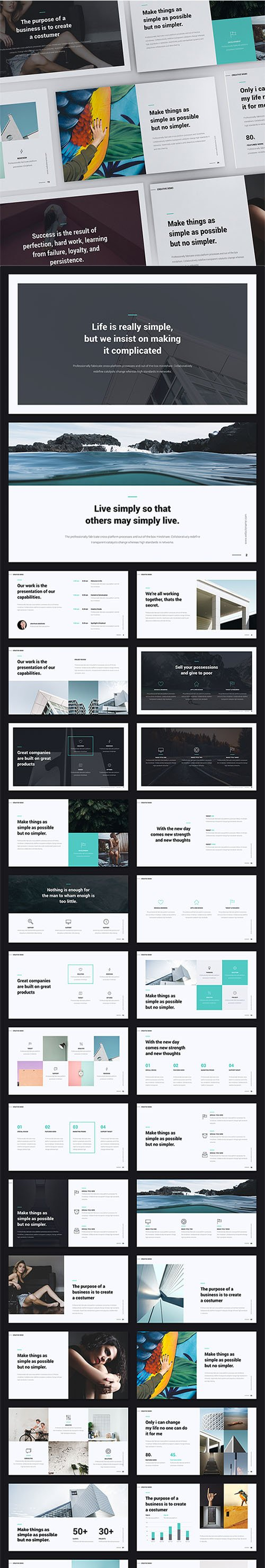 "GR - MNML Presentation Template (""Shift"" Presentation Builder) 22851313"