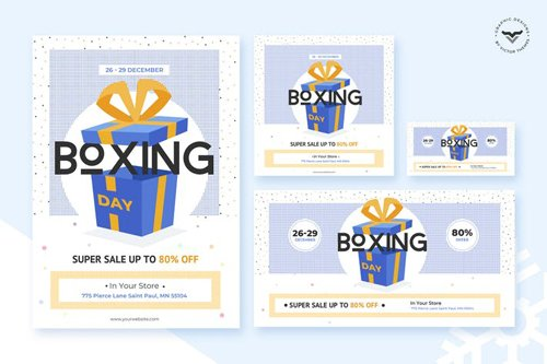 Boxing Day Flyer & Social Media Pack Template