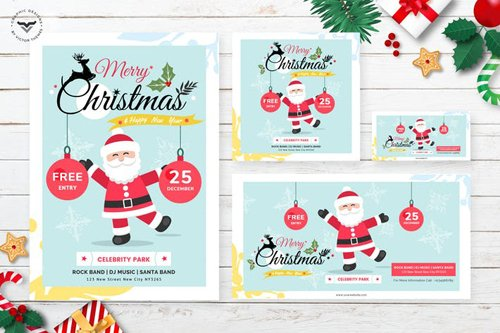 Christmas Flyer & Social Media Pack Template