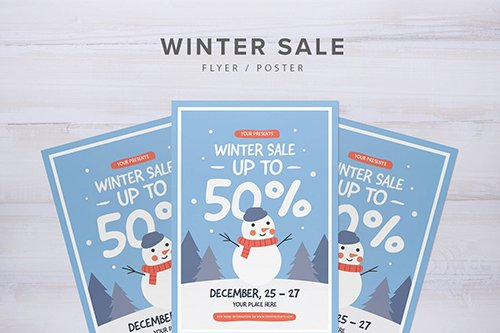 PSD Winter Sale Flyer