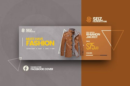 Seiz Fashion Facebook Cover Template
