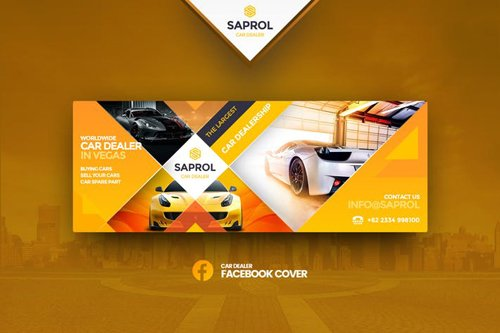 Saprol Car Dealer Facebook Cover Template
