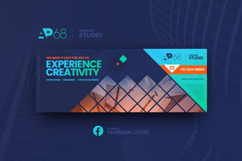 AP68 Business Facebook Cover Template