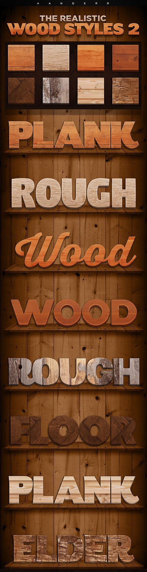 Graphicriver - The Realistic Wood Styles 2 18006000