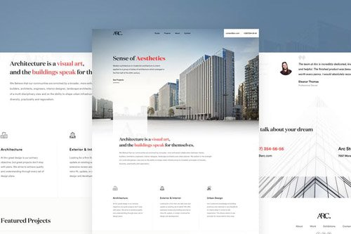 Arc - Architectural Studio Web Template