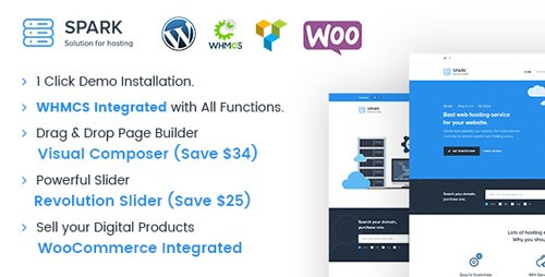 ThemeForest - Spark v2.2.2 - Responsive WHMCS Hosting WordPress Theme - 18146709