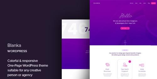 ThemeForest - Blanka v1.1 - One Page WordPress Theme - 20695002