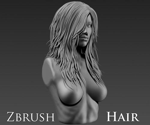Zbrush Female Hair 1