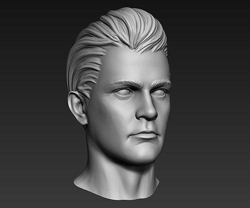 3D Print Ready Male Head