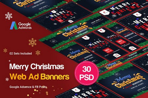 Merry Christmas Banners Ad - F93SP9
