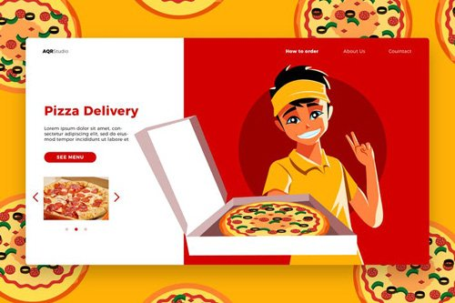 Pizza - Banner & Landing Page