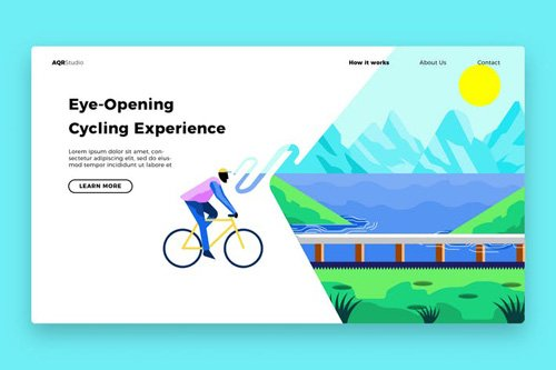Bicycle out - Banner & Landing Page