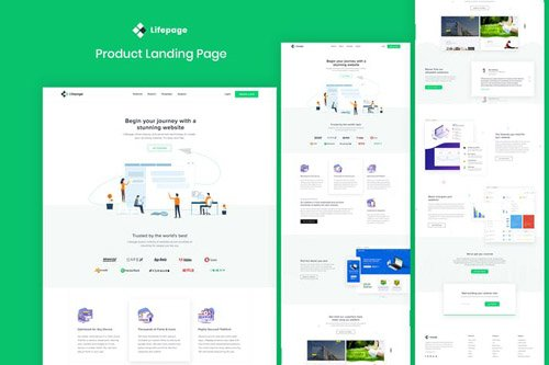 Lifepage - Agency Landing Page