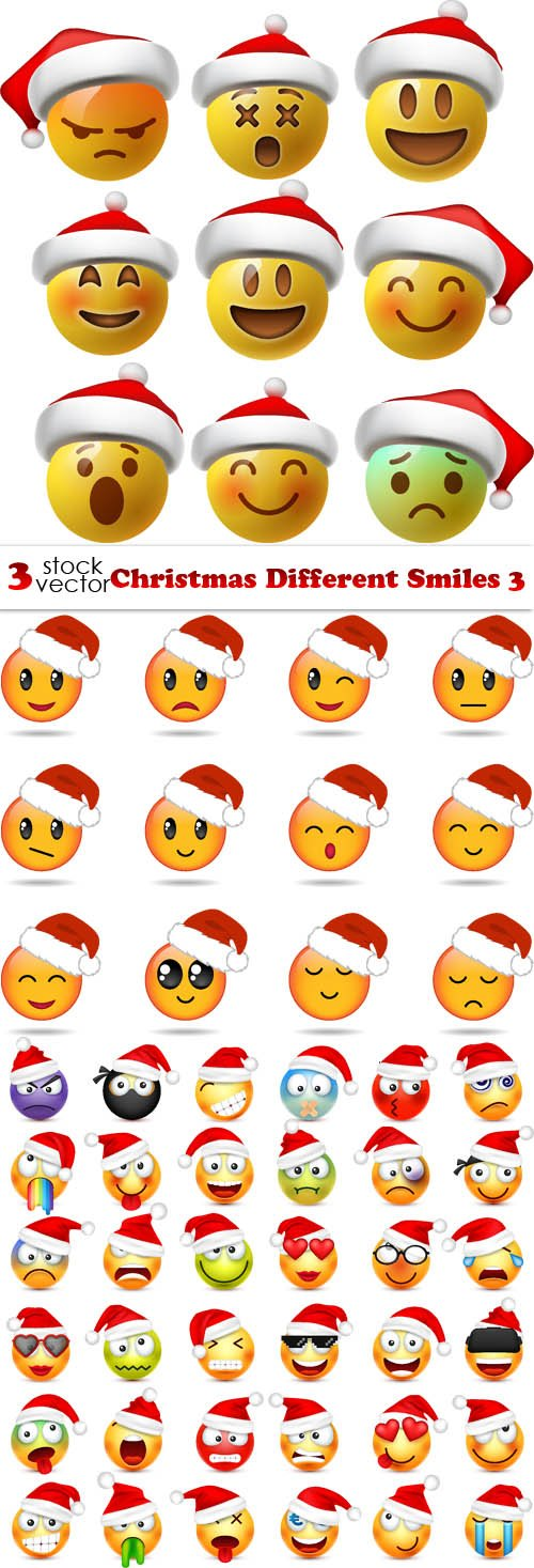 Vectors - Christmas Different Smiles 3