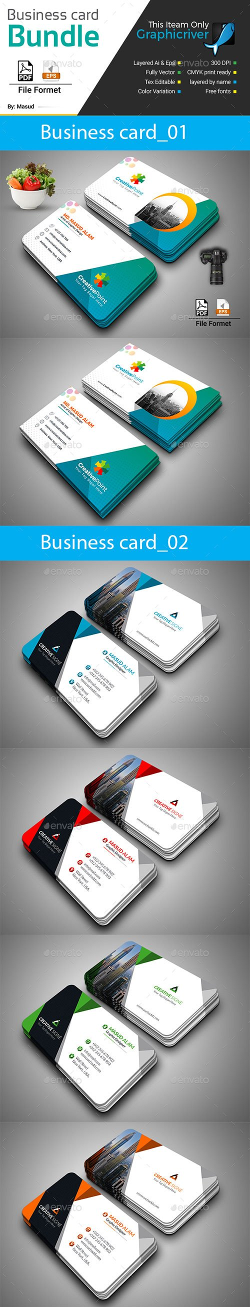GraphicRiver - Business Card Bundle 2 in 1 22188736