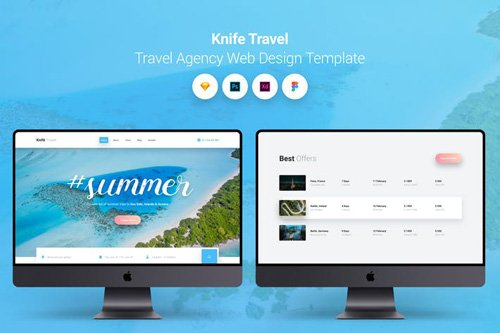 Knife Travel - Travel Agency Web Design Template