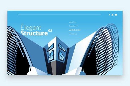 Elegant Structure - Banner & Landing Page
