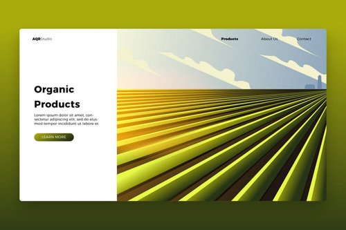 Farm - Banner & Landing Page