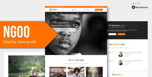 ThemeForest - NGOO v1.0 - Charity, Non-profit, and Fundraising PSD Template - 22965138